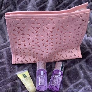 🎀Clinique triple pack travel & cosmetic bag🎀NEW